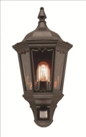 Buitenlamp wand half serie Cartella II zwart h-49cm nr: FL7043