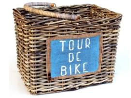 Handgevlochten open fietsmand hengsel natural 45x32x32cm nr 902026