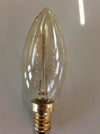 Global-Lux kaarslamp 25W E14 230V kooldraad goud nr 6-180853