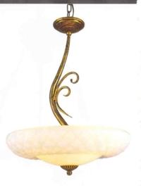 Schaallamp kasteelserie 3-lichts met geslepen schaal nr:20393/3A