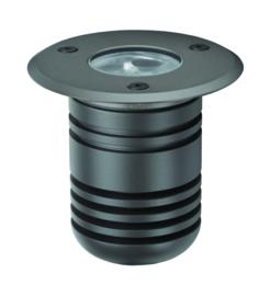 Buitenspot grondspot ALU antraciet LED 5W gat 6,3cm nr 5351