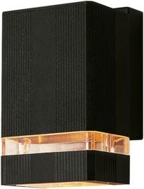Buitenspot wand zwart 1xhalo35w h-16cm nr: 21038