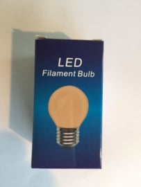 Global-Lux filament kogellamp E27 1W/10W 230V flame nr 6-183410