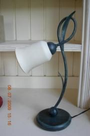 "Italiaanse tafellamp met blaadjes kleur ""verde antico"""