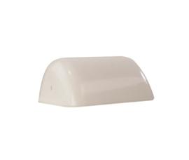 Mondgeblazen buroglas voor notaris bureaulamp links opaal wit nr 420.00