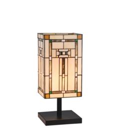 Tiffany tafellamp Villa E27 60w 18x18x43h nr VT-AD T10