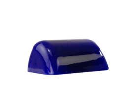 Mondgeblazen buroglas notaris bankierslamp donker blauw nr 420.49