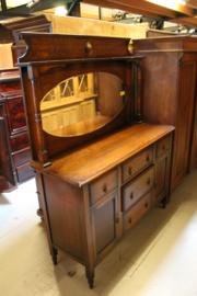 Engelse dresser met spiegelopstand omstreeks 1920-1930 nr 10040