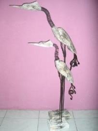 Tikki takki vogel 100cm swing antiek white wash