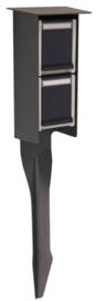 Prik stopcontact voor buiten antraciet IP55 230V 2jr garantie nr 10-10141