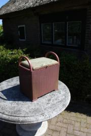 Originele Lusty Loyd-Loom wastafel kruk met box oud roze met goud accenten nr 400113
