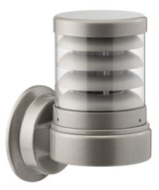 Buitenlamp serie Polo wand raster 21cm zilver op bestelling nr: 402.00-45