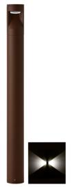 Buitenlamp mast Lako h-60cm 2 zijden licht LED 7W roestbruin nr 409.060/2-14