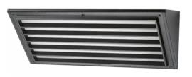 Buitenlamp serie Multipla wand br32cm rooster breed zwart nr: 5619