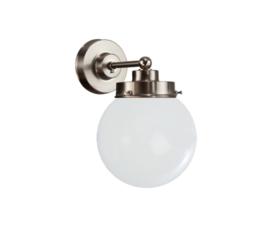 Wandlamp wandmini mat nikkel met opaal bol Bol 15cm nr 7Wm-1500.00