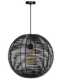 Hanglamp showmodel Black Jack d50cm h110cm zwart 1xE27 nr 05-HL4465-50-30S