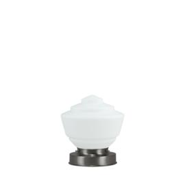 Getrapte tafellamp model blok mat nikkel met opaal kap Console 17cm nr 7Tp1-458.00