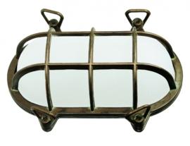 Buitenlamp wand serie Maritiem verkoperd messing h-15cm nr: 23209-36