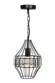 Hanglamp Showmodel sparkle small d21cm en h113cm metaal en glas E27 nr 05-HL4495-43S