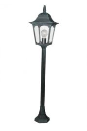Buitenlamp mast h-100 serie Quadrat 2 kleuren leverbaar nr: 14033