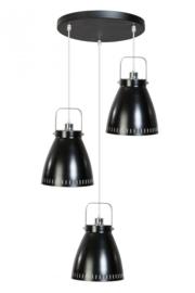 Hanglamp Acate 3L rond dia 26,5cm zwart nr 05-HL4242-30