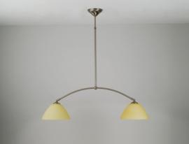 T-lamp boog 72cm breed mat nikkel met mat champagne calimero kappen nr 973.07