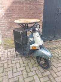 Scooter statafel blad dia-62cm hoog-112cm met opbergvakken nr30022