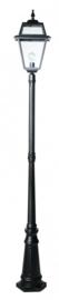 Buitenlamp mast 228cm serie Perla zwart nr: 146