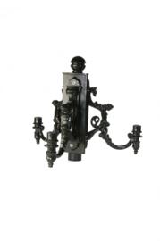 Buitenlamp kopstuk 3-lichts voor mast ant. groen serie Nuova nr: 1570