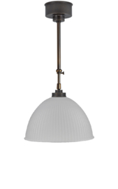 Schuifstang 2x50cm brons kleur mat witte koepelkap 30 nr 2Sb-531.16