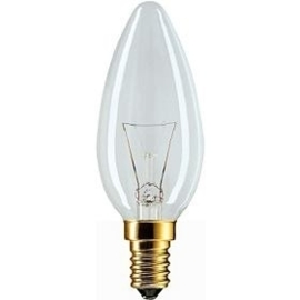 Philips kaarslamp B35 E14 15W helder 230V nr: 18-3152