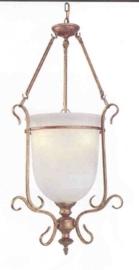 Schaallamp kasteelserie met bokaal glas 3-lichts nr:20413/3