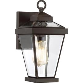 buitenlamp wand ALU brons-zwart h32cm 15jr garantie IP44 nr 4070