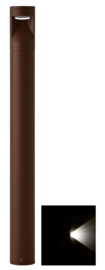 Buitenlamp mast Lako h-60cm 1 zijde licht LED 7W roestbruin nr 409.060/1-14