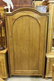 Originele antieke 1-deurskast 1880 met toog en planken nr 10015