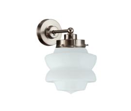 Wandlamp wandmini mat nikkel met opaal bol Diabolo nr 7Wm-465.00