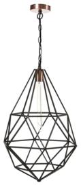 Hanglamp model Startup zwart/koper d38cm h159cm E27 nr 05-HL4489-30