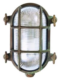 Buitenlamp wand serie Maritiem verkoperd messing S h17cm nr 232015-36
