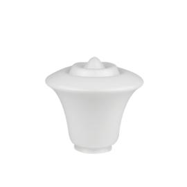 Glazen bol model Klepel opaal wit d-24cm h-21cm gr-10cm nr 411.00