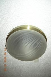 Kleine plafonnier met satijn glas 20298/1b