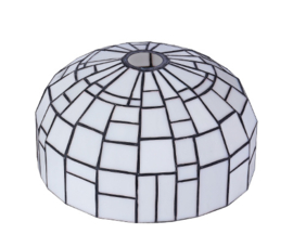 Tiffany kap iglo wit d27cm h14cm E27 gt4,4 nr TK-AD Gph2
