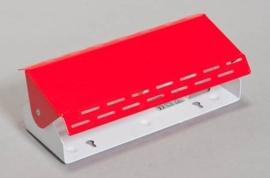 Bedlampje Lano hoekig rood nr 05-1349-01