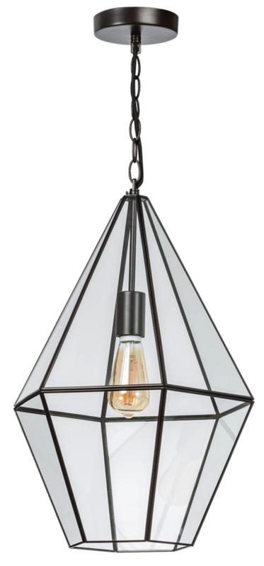 Hanglamp serie Fame br36cm en h135cm metaal en glas E27 nr 05-HL4492-43