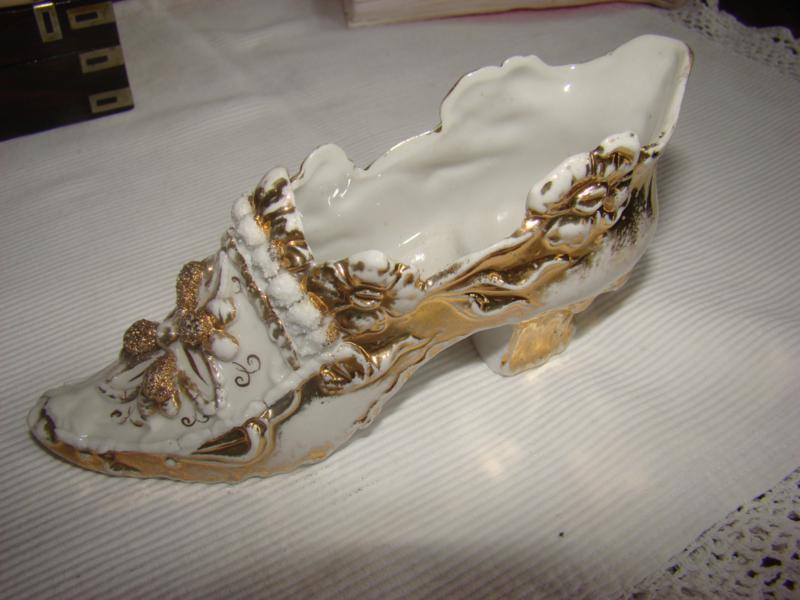 Victoriaanse porseleinen schoen.