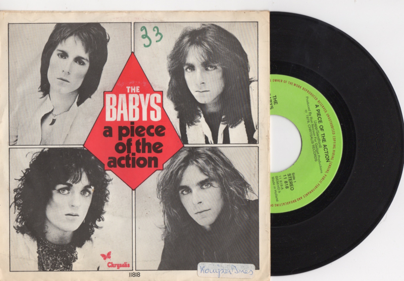 The Babys met A piece of action 1978 single nr S2020168