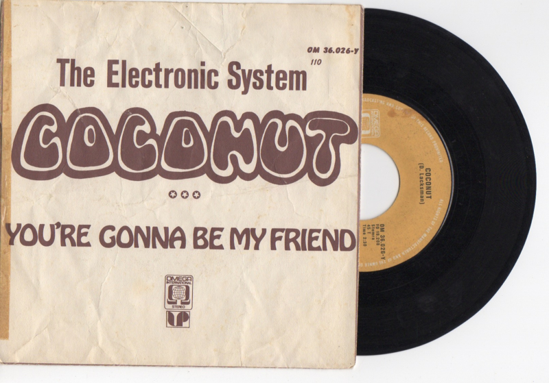 The electronic system met Coconut 1973 Single nr S2021585
