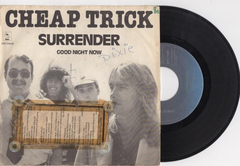 Cheap Trick met Surrender 1979 single nr S2020169
