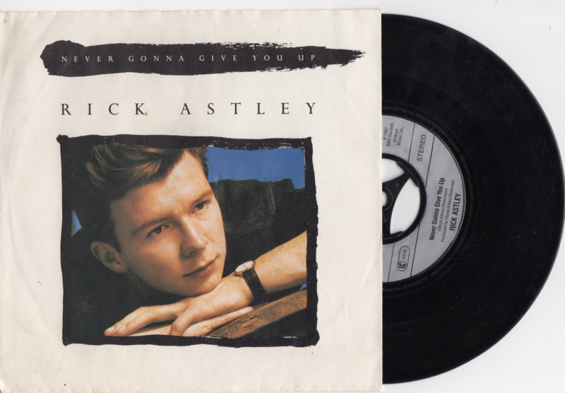 Rick Astley met Never gonna give you up 1987 single nr S2020175