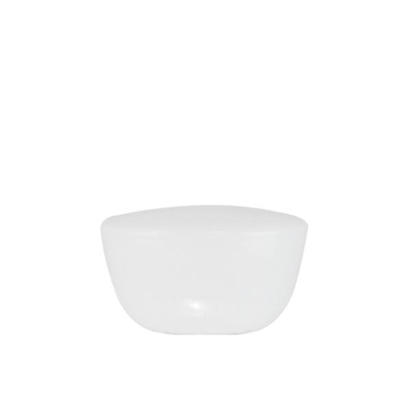 Glazen bol Model Geo d-23cm h-13cm opaal wit gat 9cm nr 202.00