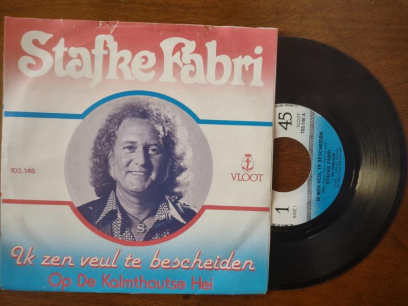 Stafke Fabri met Ik ben veulte bescheiden 1981 Single nr S20211223